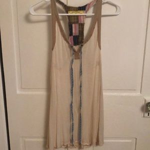 Tan Free People Tunic Tank